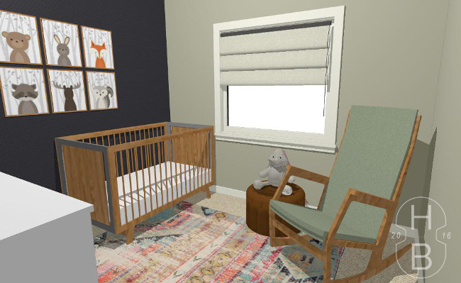 Modern Nursery Design and Decorating Plan   House by the Bay Design