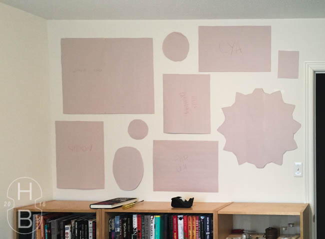 Guest room modern vintage gallery wall   paper templates   House by the Bay Design
