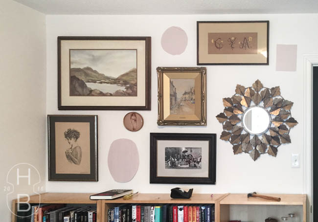 Guest room modern vintage gallery wall | House by the Bay Design