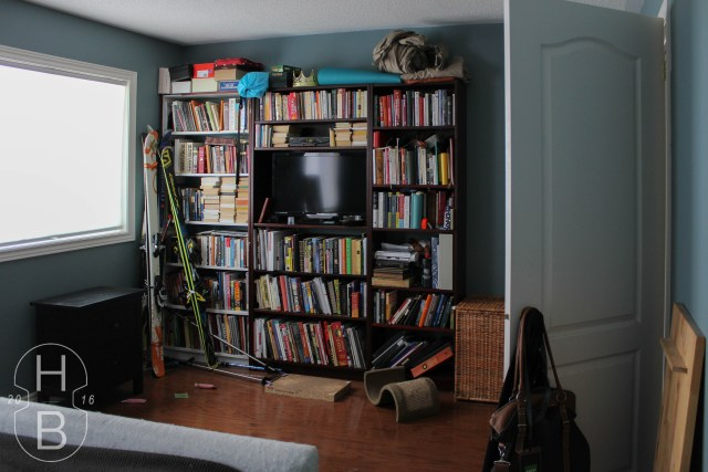 Master Bedroom Bookcase Before | One Room Challenge | House by the Bay Design