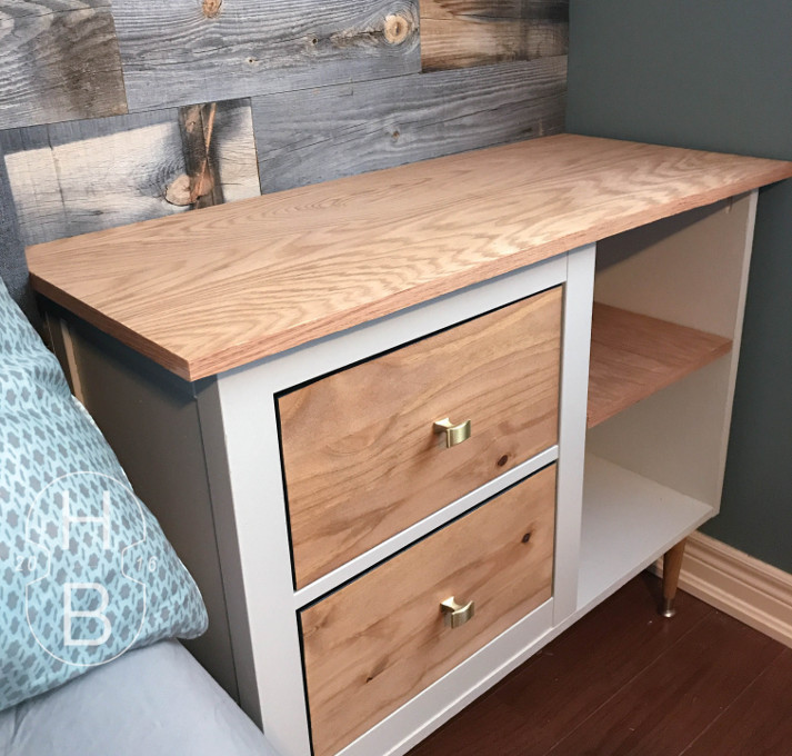 Mid Century Modern Ikea Hemnes Bedside Table Hack | House by the Bay Design