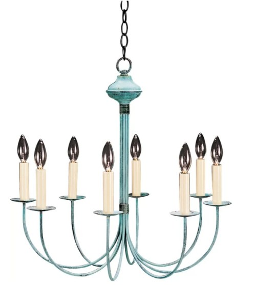 Patina Chandelier | 2018 Home Design and Decor Trends | House by the Bay Design