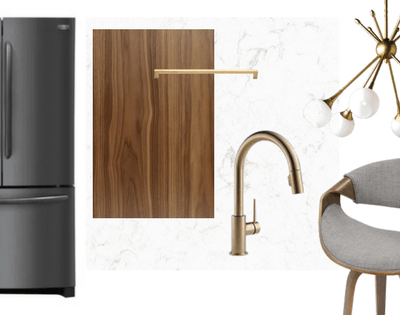 How to Style Frigidaire Black Stainless Steel Appliances: Mid-Century Modern Kitchen