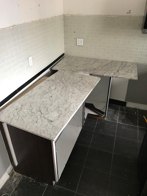 Broken Granite   Kitchen Renovation   House by the Bay Design