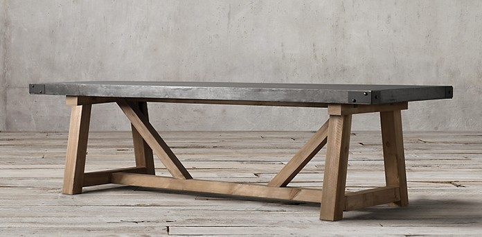 Restoration Hardware Railroad Table | House by the Bay Design