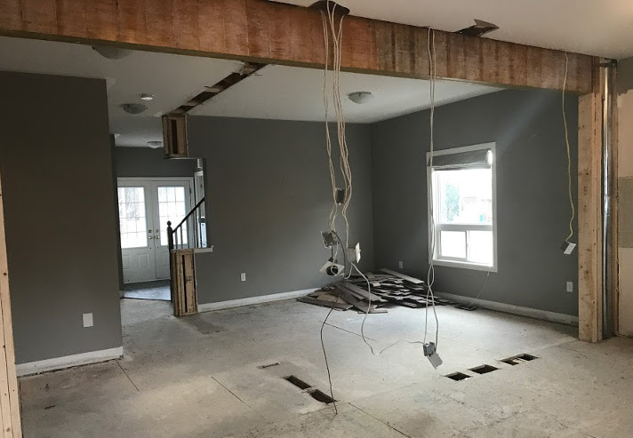 Wall Demo Dining Room | House by the Bay Design