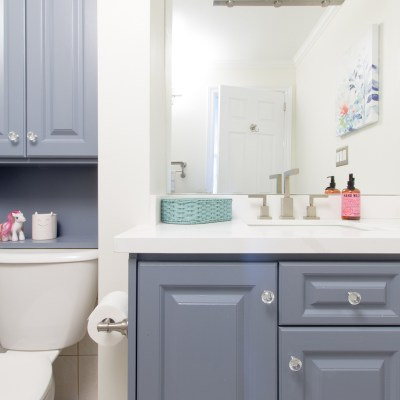Colourful Kids Bathroom Makeover