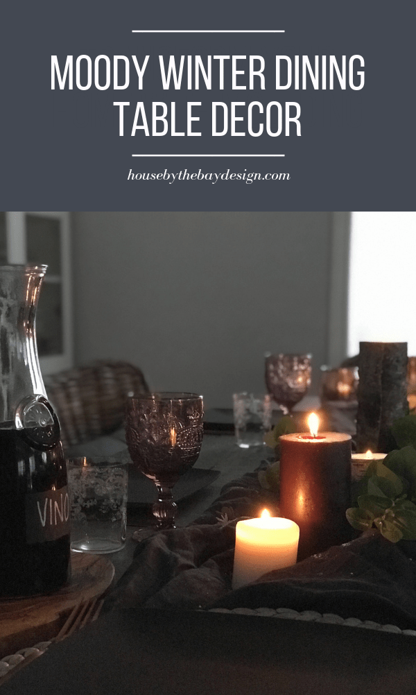 set the mood with a candlelit winter dining table   House by the Bay Design