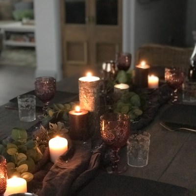 Moody Winter Dining Table Decor