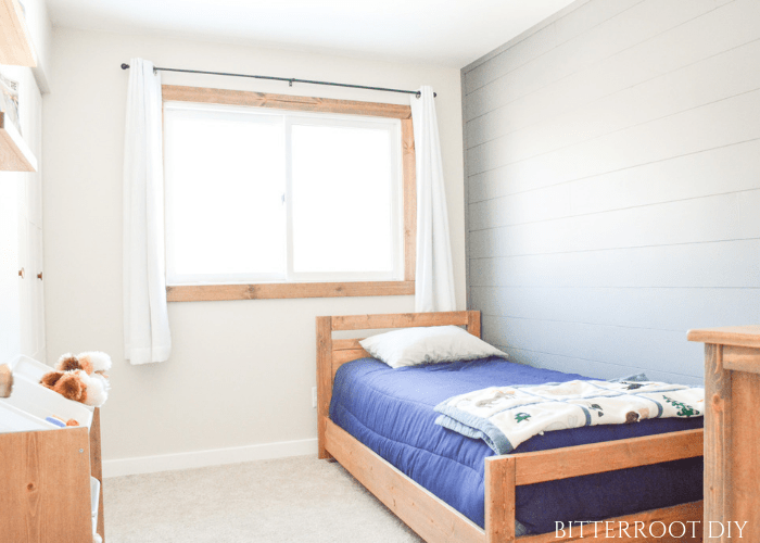 Faux Shiplap Wall for $20