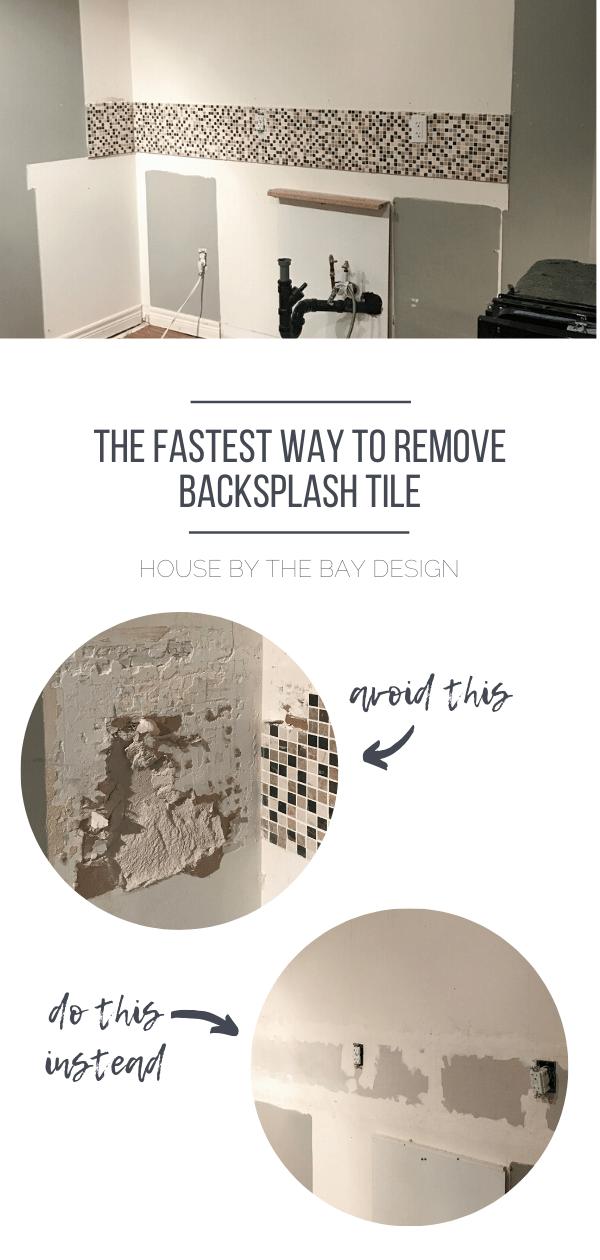 Fastest Way to Remove Backsplash Tile