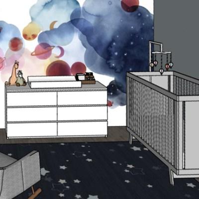 Space Theme Nursery Design Plan