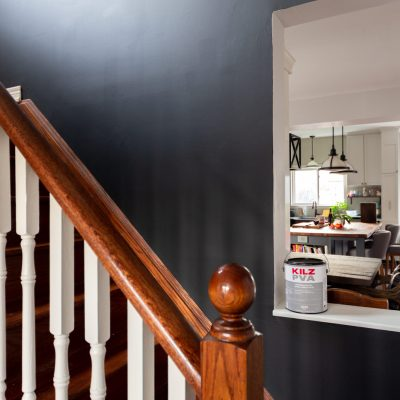 Stairway Accent Wall with KILZ® PVA Primer