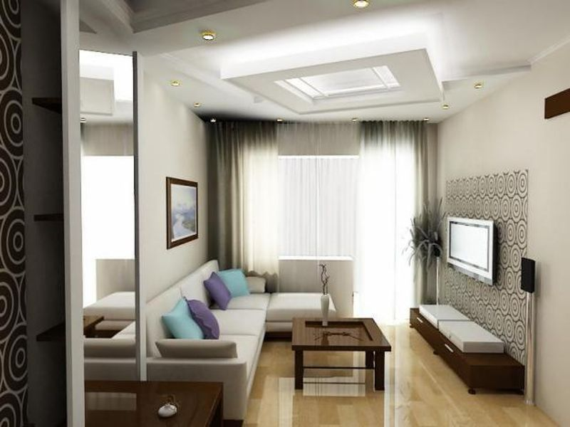 Decorating Ideas For Narrow Living Rooms By Furniture