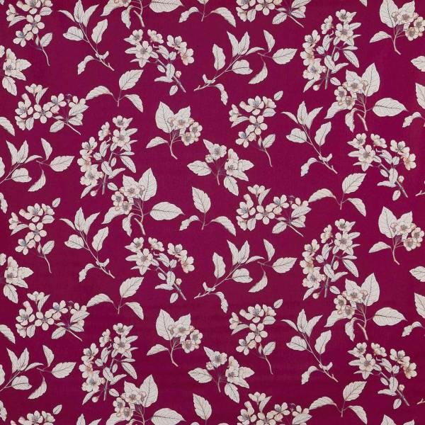 Cherry Blossom Fabric - Garnet 5024 642 Prestigious