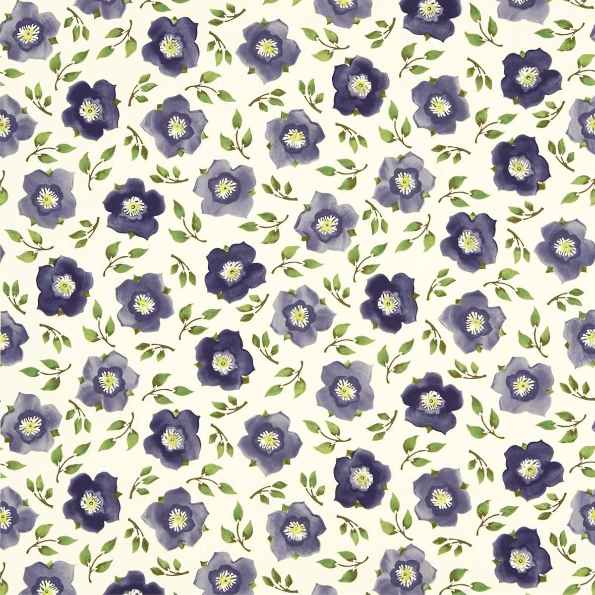 Hellebore China Fabric  PurpleGreen 223434  Sanderson Emma Bridgewater Fabrics  Wallpapers