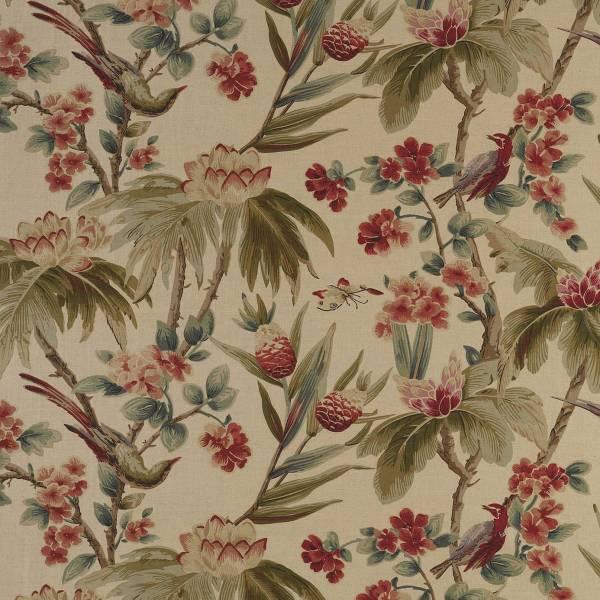 Bird & Blossom Fabric - Antique