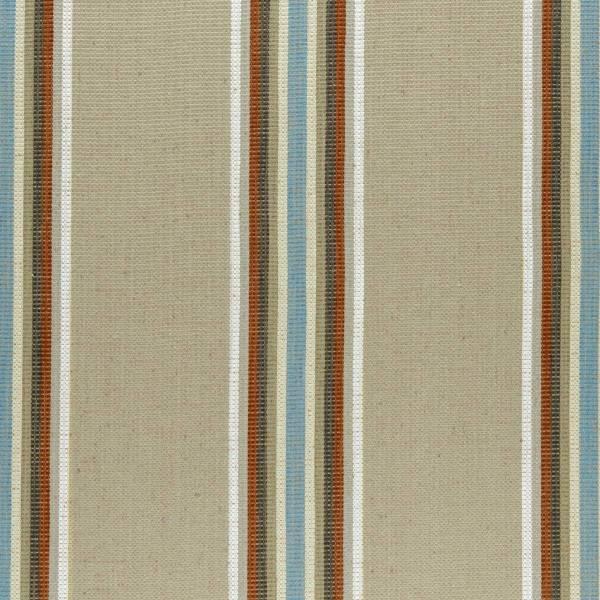 Curtains In Imani Fabric - Cinnabar Aqua F0955 02