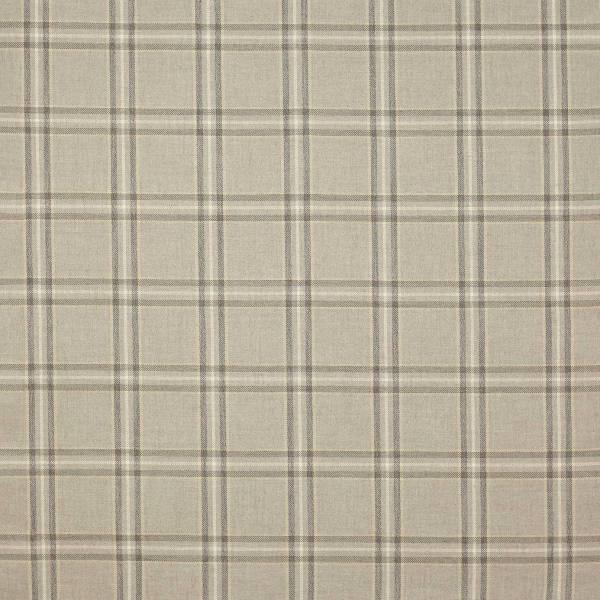Edgar Check Fabric - Stone F4524 01 Colefax & Fowler