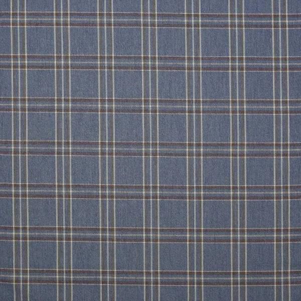 Edgar Check Fabric - Navy F4524 05 Colefax & Fowler