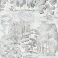 Sanderson Wisteria Falls Wallpaper Waterperry Wallpapers From Sanderson