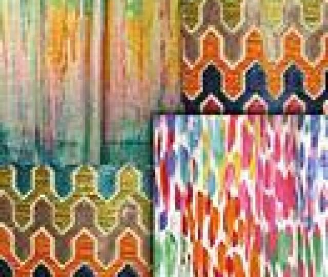 Bright Multi Retro Modern Fabric