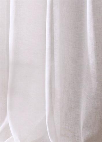 120 wide sheer white linen