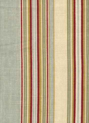 Ensemble Stripe Robins Egg  Drapery Fabric