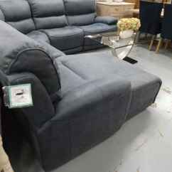Blue Suede Sofa Modern Settees Sofas Motive Electric Reclining Corner Chaise