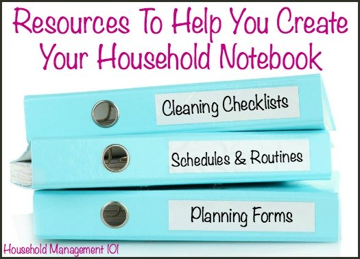 resources to help you create your household-notebook