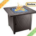Blue Rhino Outdoor Propane Gas Fire Pit with Blue Fire Glass Review