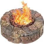 Best Choice Products Natural Stone 30,000 BTU Outdoor Gas Firepit