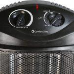 Comfort Zone CZQTV007BK Quartz Tower Heater