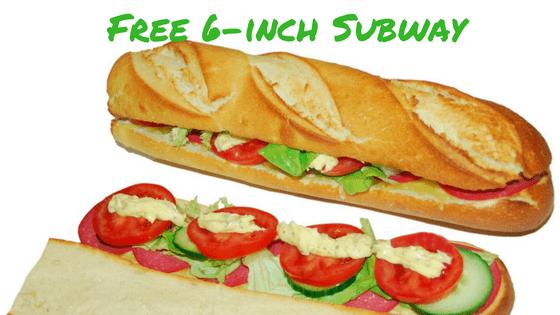 free 6-inch subway