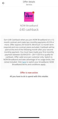 now broadband cashback