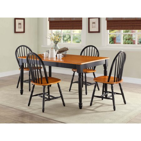 oak farmhouse chairs expensive gaming chair traditional style dining table 6 seater autumn lane furniture black and new