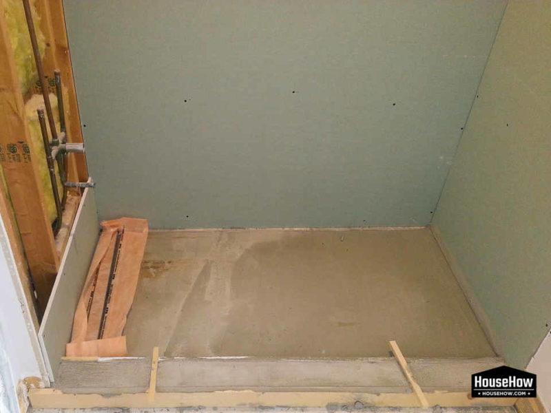 installing tiles on drywall