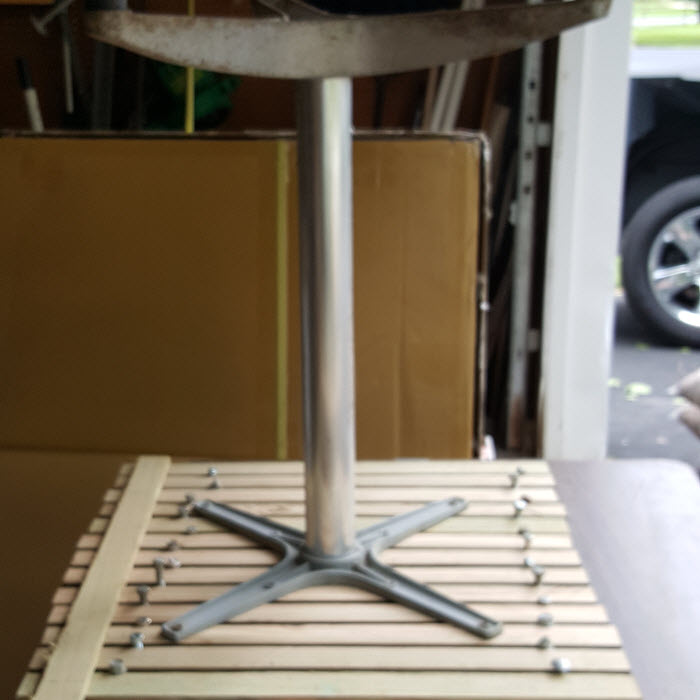 Make a new table top yourself.2
