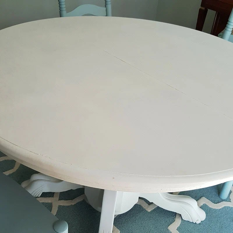 Table painted Cotton White by Vintage Market and Design Paint - Housekaboodle