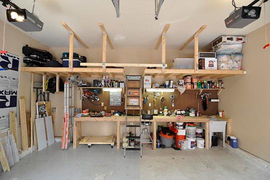 One Car Garage Woodshop Layout Plans