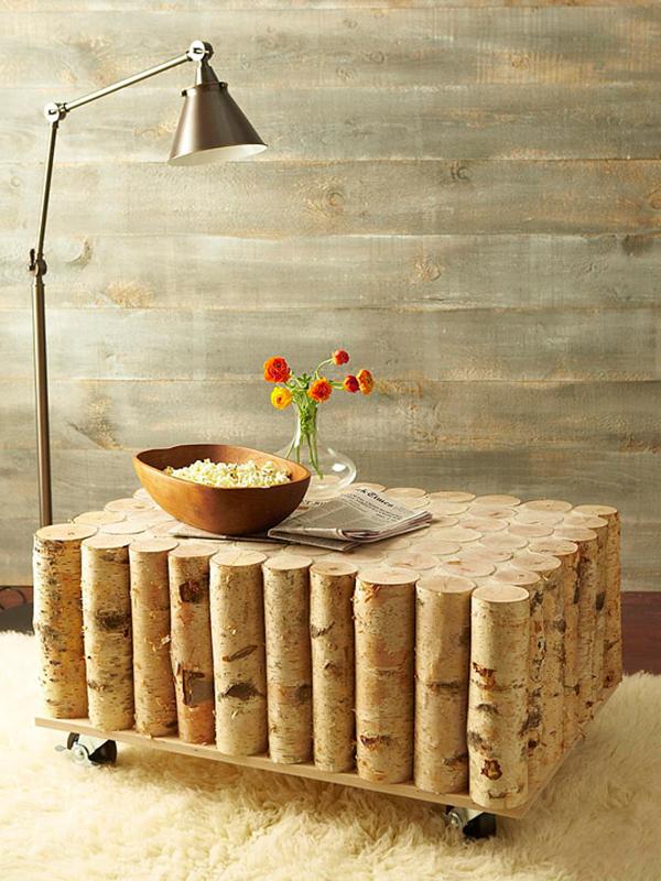 Tavolino in legno di betulla