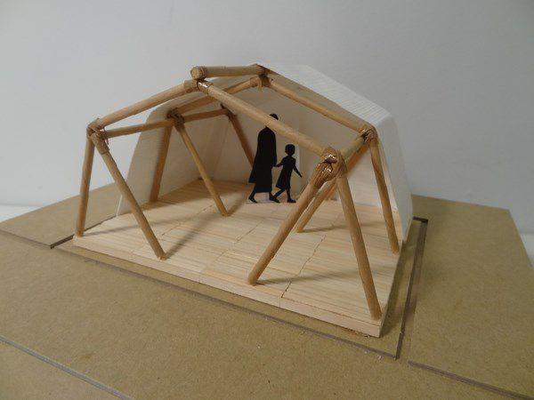 Archi Depot Tokyo Shigeru Ban arch model