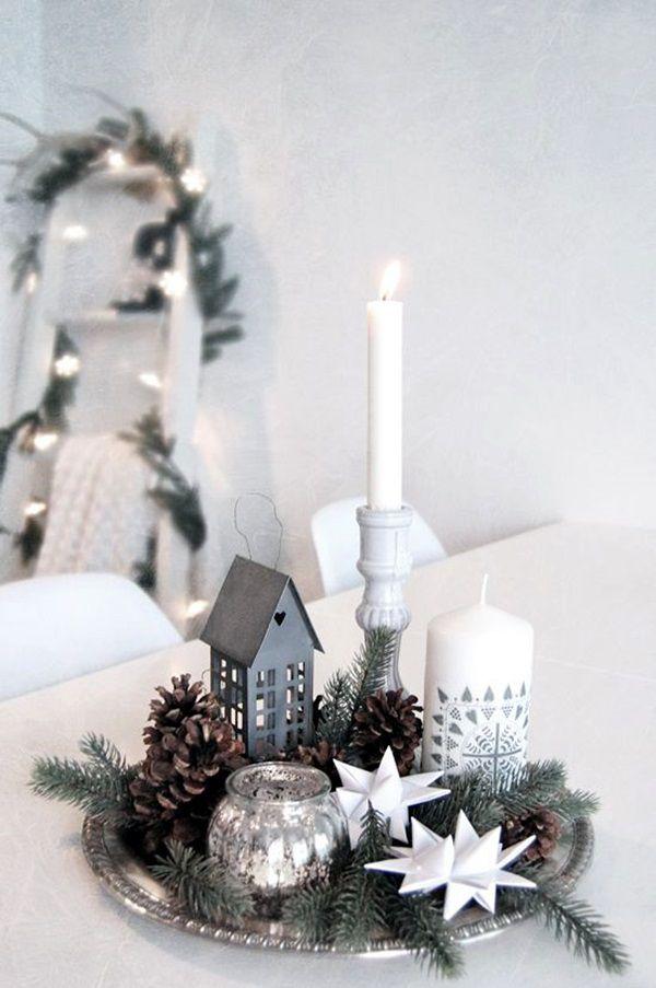 candele natale stile nordico