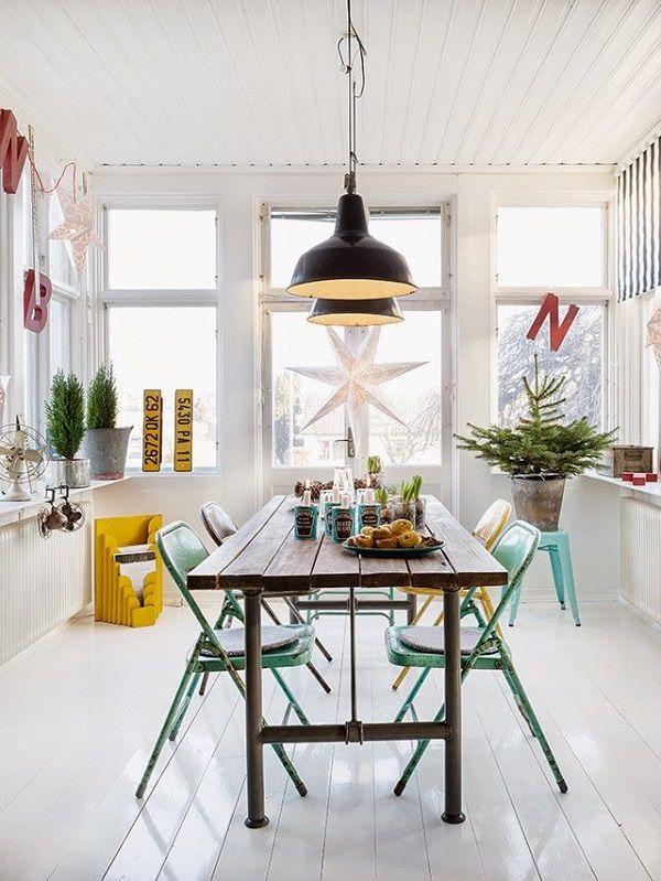 sala da pranzo moderna scandinava