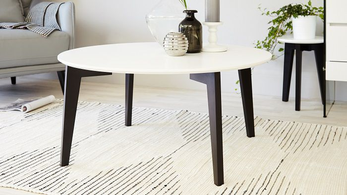 Danetti Bianco Black and White Coffee Table