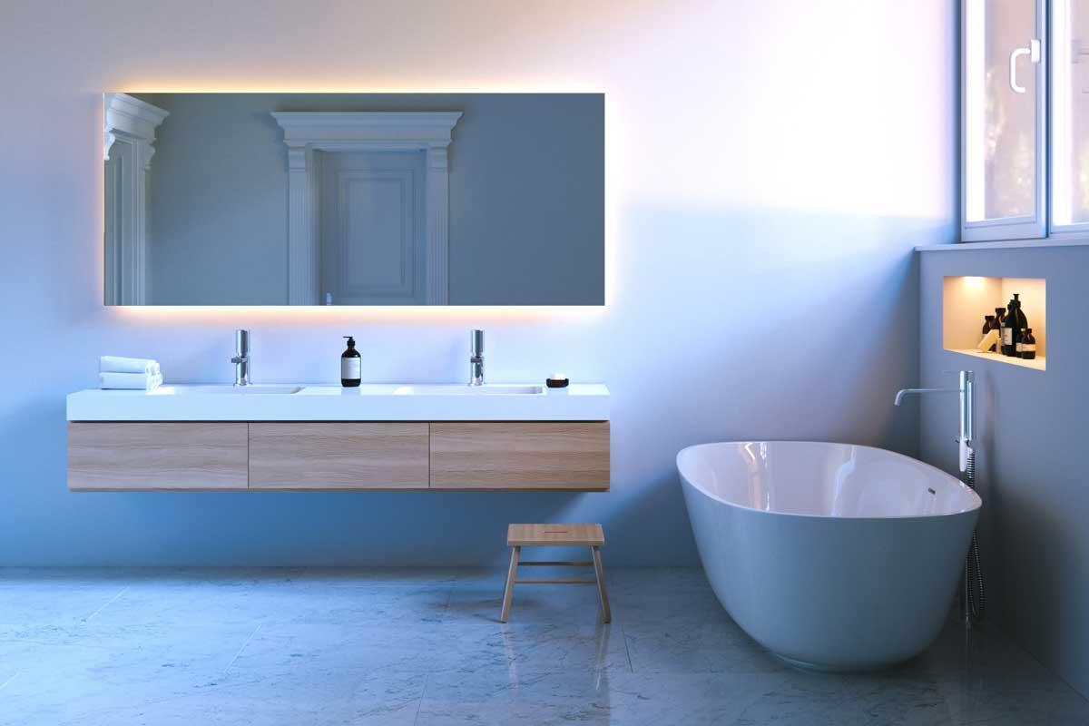 Design bagno una perfetta l illuminazione è importante