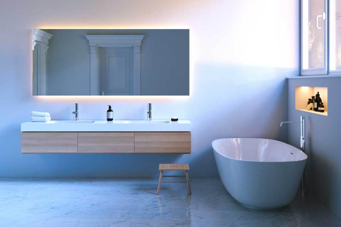 illuminazione corretta stanza bagno