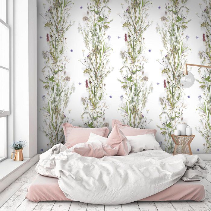 Carta da parati romantica camera da letto