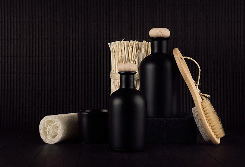 accessori bagno nero