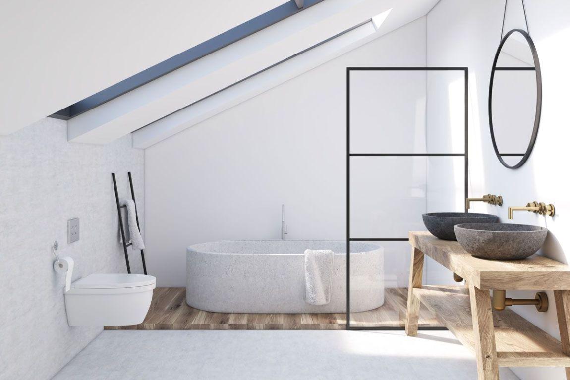 arredare sottotetto mobili bagno